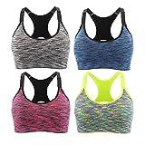 Srizgo Sport BH Damen Yoga BH 4er Pack