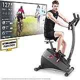 Sportstech Vélo d'Appartement ergomètre ESX500, Vidéos Live et multijoueur APP + écran 5,5', Poids d'inertie 12KG, Compatible avec la Ceinture pulsée Entraînement
