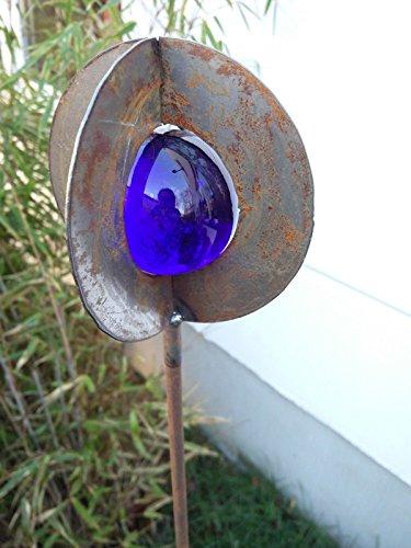 Garteninspiration Gartenstecker in Blau