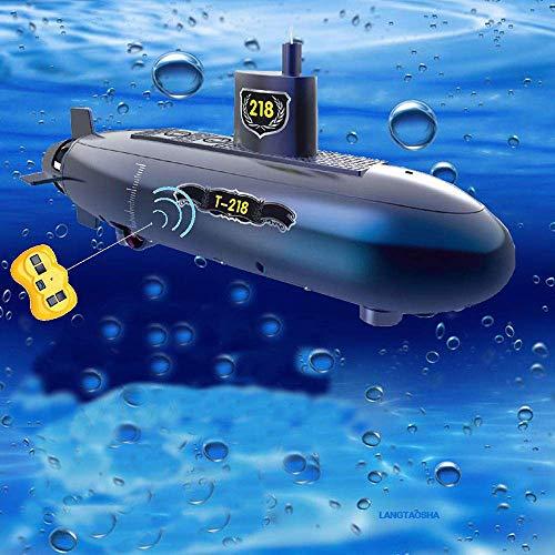 OMZBM Mini RC U-Boot-Spielzeug RC Speed Racing Boote Outdoor Adventure Pigboat Modell U-Boot Fernbedienung Boot DIY Spielzeug Geschenk Bildung Puzzle, Blau