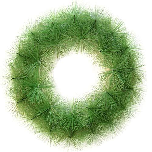 LXLTL Künstliche Buchsbaumkranz Grüne Blätter Haustür Kranz Im Freien Grünen Kranz Für Haustür Hängen Wand Fenster Hochzeit Party Decor,A,40cm