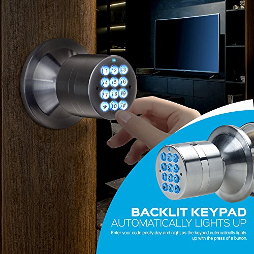 Advanced Security TurboLock Keyless Smart Lock Keypad – with Automatic Locking, Battery Backup & Easy Installation (No Bluetooth, Stainless Steel)