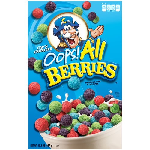 Cap'n Crunch's Oops All Berries Cereal 15.4 Oz Box (6 boxes)