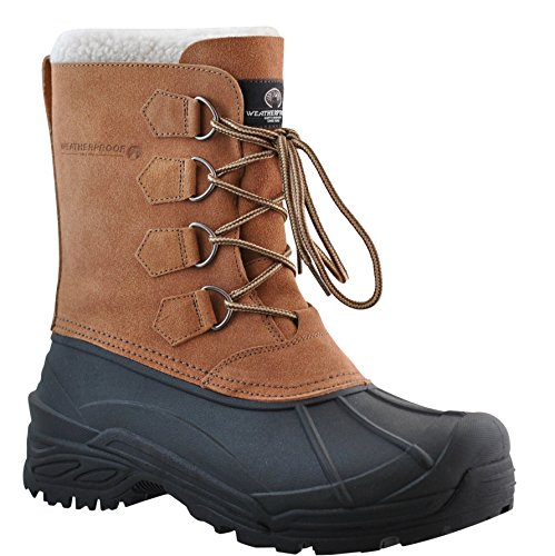 Weatherproof Men's Snow Boot, TAN, 13