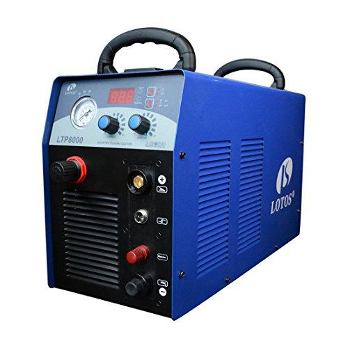 Lotos LTP8000 80 A Plasma Cutter with Pilot ARC Metal Cutter, 1 inch Clean Cut, Blue