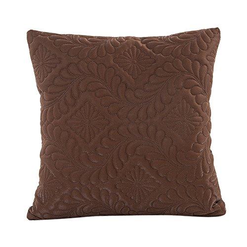 Vovotrade pure kleuren sofa taille kussen dekken uitgangsdecoratie kussen cover cover case 16,9 x 16,9 inch (bruin)