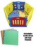 Juego de 6 paneles de plástico para bebé, ideal para bebés y niños pequeños...