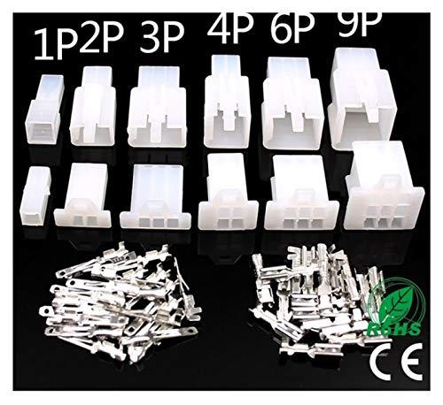 JunHUA 10set / Lot 2.8mm 2/3/4/6/9 Pin Automotive 2.8 Cable eléctrico Conector...