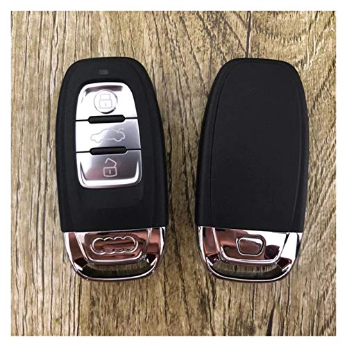 NERR YULUBAIHUO Conexión remota de reemplazo del automóvil Shell 3 Botones de Clavija de Clavija de Clavija Cubierta Cubierta para Audi A4 A6 Q5 A5 Caso de Clave de actualización A5
