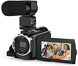 Video Camera 4K Camcorder, Andoer 48MP WiFi Digital YouTube Vlogging Camera Recorder 16X Digital Zoom with 3 Inch Touchscreen External Microphone IR Infrared Night Sight