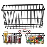Over the Cabinet Door Organizer Holder, EINFAGOOD Wall Basket No Drilling with Adhesive Pa...