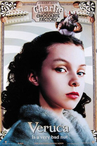 Charlie And The Chocolate Factory Veruca 18X27 Johnny Depp Poster