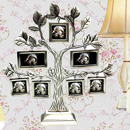 Cuttey Stronrive - Pantalla para árbol genealógico, Marco para árbol genealógico con 7 Marcos Colgantes para la decoración de Mesa autoportante doméstica Excellent Excitement