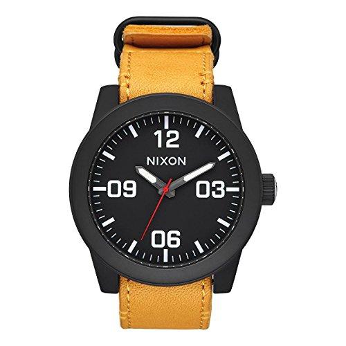 NIXON Reloj Analógico para Hombre de Cuarzo con Correa en Tela A2432448