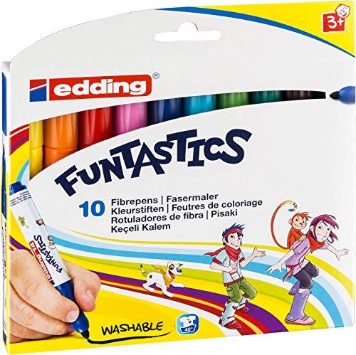 edding 4-14-10 Fasermaler e-14 Funtastics, 10-er Set, circa 3 mm