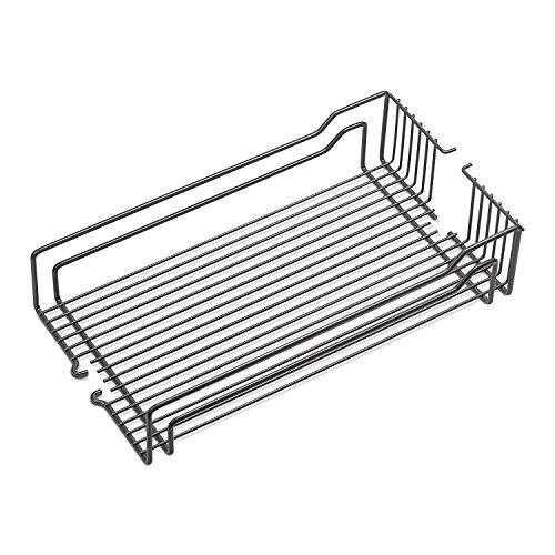 2 x Einhängekorb anthrazit 250 x 467 x 110 mm für 300 mm Schrankbreite Drahtkorb für Apothekerauszug DISPENSA-X, Junior und Swing von SO-TECH®