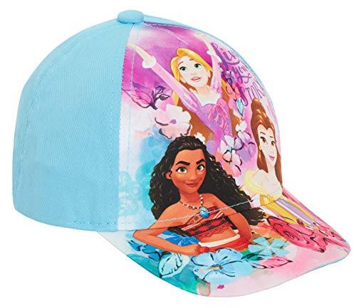 Disney - Gorra de béisbol para niñas, diseño de princesa, para verano, ajustable, ideal como regalo para niñas