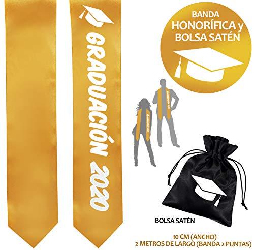 Inedit Festa Graduación 2020 Banda de Graduación Banda Honorífica Feliz Graduación Banda 2 Puntas y Bolsa Satén Birrete Dibujo