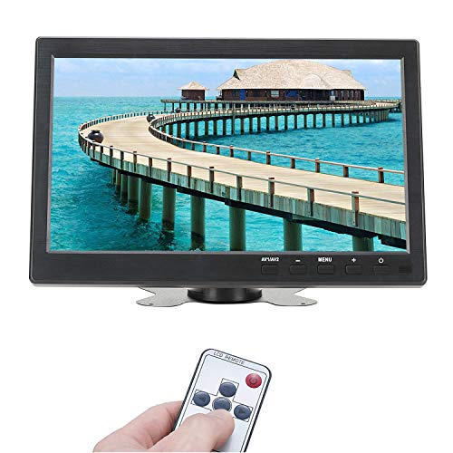 ATian 10.1 inch TFT LCD IPS 1280x800 HD Wide Viewing Angle Color Display Screen Security Monitor CCTV Surveillance Monitor Video Monitor with Speaker & AV/VGA/HDMI/BNC/USB Input