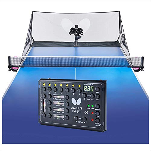 Butterfly Amicus Expert Table Tennis Robot—Fantastic Ball Launcher/Thrower/Shooter for Your Ping Pong...
