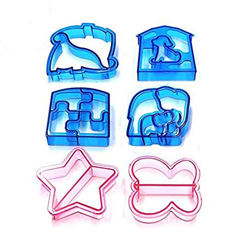Vivian Kids Sandwich Cutter Maker Cake Toast Bread Cutter Mold Set of 6 PCS