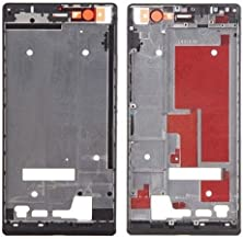 Leya Replacement Parts Front Housing Screen Frame Bezel for Huawei Ascend P7(Black) (Color : Black)