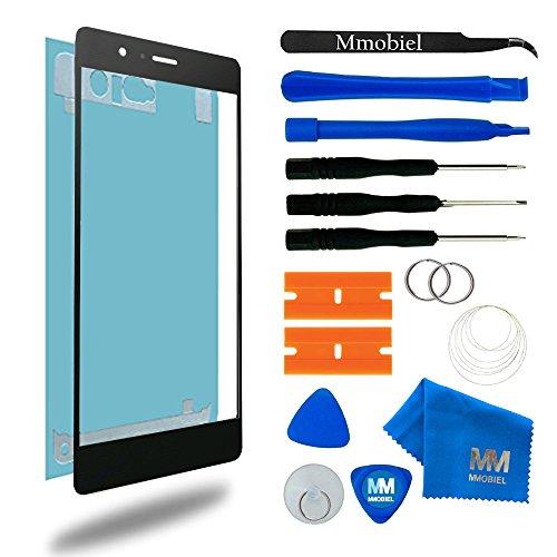 MMOBIEL Front Glas Reparatur Set kompatibel mit Huawei P9 Series (Schwarz) Display Touchscreen mit Werkzeug-Set