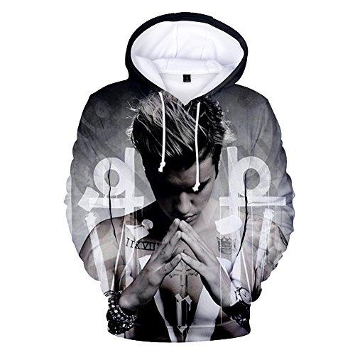 CTOOO 2018 Damen Und Herren Justin Bieber 3D Druck Kapuzenpullover Hoodie Sweatshirt XXS-XXXXL