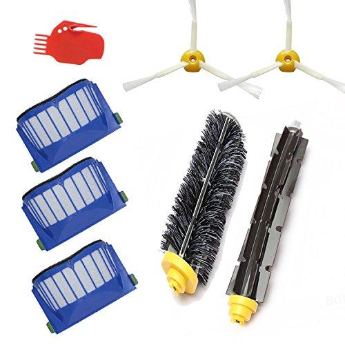 Techypro® Bürstenmodule für iRobot roomba 585 595 600 620 650 660 Reinigungskit Wartungskit Bürsten Filter Set