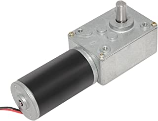 Aobbmok DC 12 Volt Low 35 Rpm Turbo Worm Gearbox Motor High Torque Turbine Reducer with 6mm Shaft