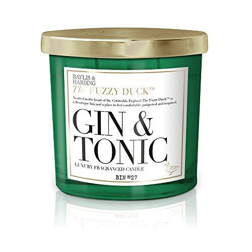 Baylis & Harding Fuzzy Duck Cocktails Gin & Tonic Luxus Doppel-Docht Kerze