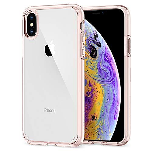 【Spigen】 iPhone XS ケース/iPhone X ケース 5.8インチ 対応 全面クリア 耐衝撃 米軍MIL規格取得 ウルトラ・ハイブリッド 057CS22127 (クリスタル・クリア)