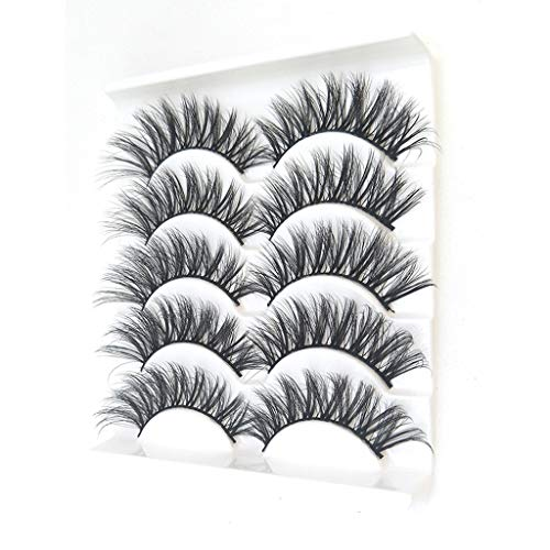 K-Y Maquillage de 5 Paires 3D Faux Cils Fluffy Strip Eye Mix Cils Partie Naturelle
