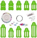 Multi-sizes folding fabric and biasing strips roll tool set,Fabric bias binding tape making kit diy sewing quilting tool for House hold Hand Clothing Patch Arts Crafts Tool (C)