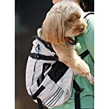 Seven Master Pet Dog Carrier Dog Backpack for Most Small and Middle Pet Dog, Front-Facing Adjustable Dog Carrier, Easy-fits and Hands-Free Pet Backpack Carrier for Hiking, Travel and Outdoor Use (L)