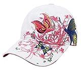 Belsen Fille Paillette Fleur de Papillon Casquette de Baseball Cap (Enfants Blanc)