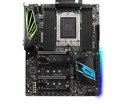 MSI X399 SLI Plus AMD TR4 DDR4 m.2 USB 3.2 Gen 2 ATX Gaming Motherboard