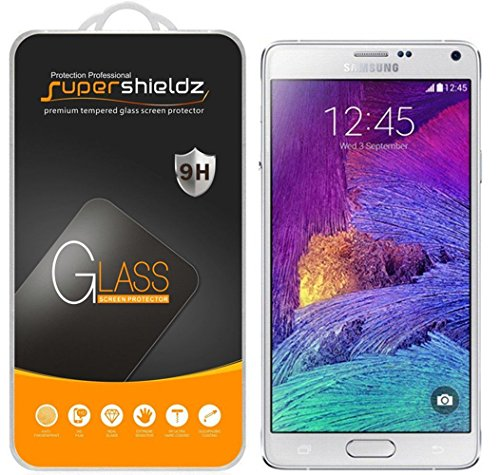(2 Pack) Supershieldz Designed for Samsung Galaxy Note 4 Tempered Glass Screen Protector, Anti Scratch, Bubble Free