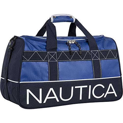 Nautica Duffle Travel 22 Inch Large Rolling Lightweight Luggage Bags Duffel, Cobalt True Blue, One Size