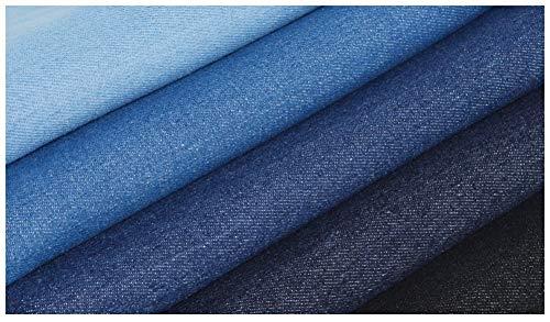 RSH Tissu Denim Jeans Tissu Dameublement De Couleur Unie Lavable Épais 150cm De Large Faisant Veste en Jean Chaussures Tablier Tissu De Coton 1 Pièce=100cm (Color : 2#)