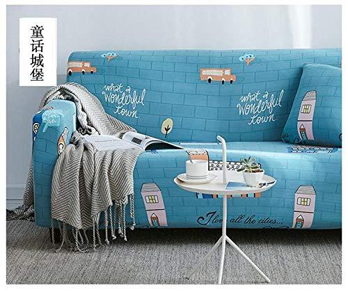 Funda de Sofá Poliéster,Funda de sofá elástica estampada, funda de cojín universal para todas las estaciones con todo incluido, funda de protección para la carcasa de los muebles-Color 11_190-230cm