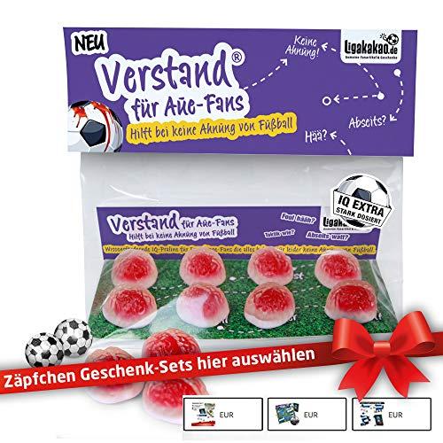 AUE Geschenk Set ist jetzt VERSTAND für AUE-Fans | Fruchtgummi-Pralinen, hochdosiert | Für Schalke, Bayern & Fußball-Fans, denen der Verstand von AUE-Fans am Herzen liegt