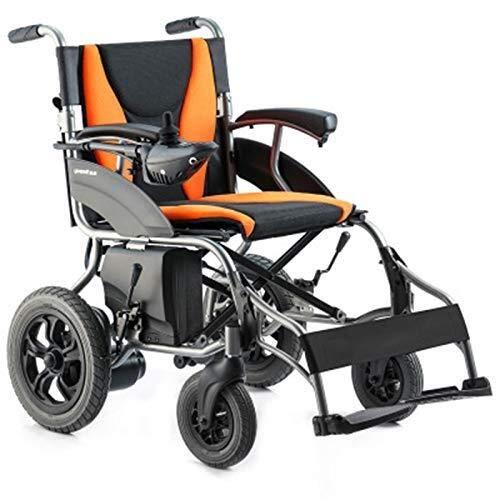 QZDDLY 2020 Beste Elektro-Rollstuhl, Folding Transit Rollstuhl stabilen und bequemer Strommotorroller Stuhl Schaltgetriebe Automatik Dual-Mode-Elektro-Rollstuhl Last 100kg Kreuzfahrt-Range