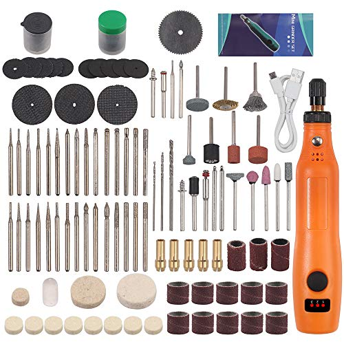 Tanice Cordless Rotary Tool 5000-15000RPM 3-Speed Adjustable USB Charging Mini Rotary Tool with 159pcs Accessories for Carving, Engraving, Sanding, Polishing, Cutting and DIY