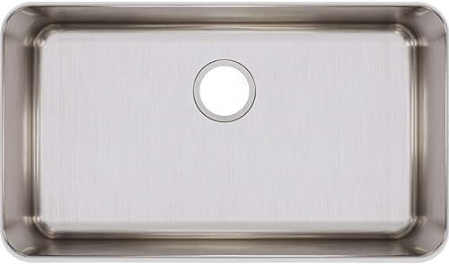 discount Elkay Lustertone ELUH2816 wholesale Single sale Bowl Undermount Stainless Steel Kitchen Sink outlet sale