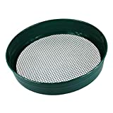 simpaoutdoor Steel Garden Riddle Sieve 1/4' 6mm Mesh 70mm Deep