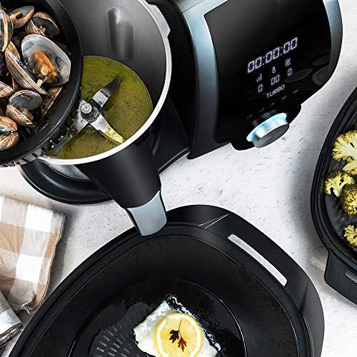 Cecotec Robot de cuisine multifonction Mambo 7090. 3,3 L, température jusqu'à 120 ° C, sélection de grade en degré, 10 vitesses, programmable, pot allant au lave-vaisselle, 30 fonctions, 1700 W.