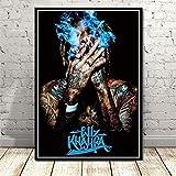 tgbhujk Rapper Wiz Khalifa Poster Hip Hop Musik Star Singer