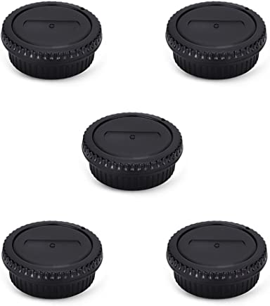 Rear Lens Cap & Body Cap Cover Set for Canon Ef Ef-S Mount T7 T6 T5 T3 XS T7i T6s T6i T5i T4i T3i T2i SL2 SL1 7D Mark II 6D Mark II 5D Mark IV 5DS R 1Dx Mark II 80D 77D 70D 60D,etc-5 Pack