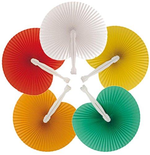100 ventagli ARCOBALENO 20 bianchi - 20 rossi - 20 verde -20 gialli- 20 arancioni (24cm -26 cm) ideale come gadgets, bomboniera per matrimoni,comunioni,cresime eventi,feste